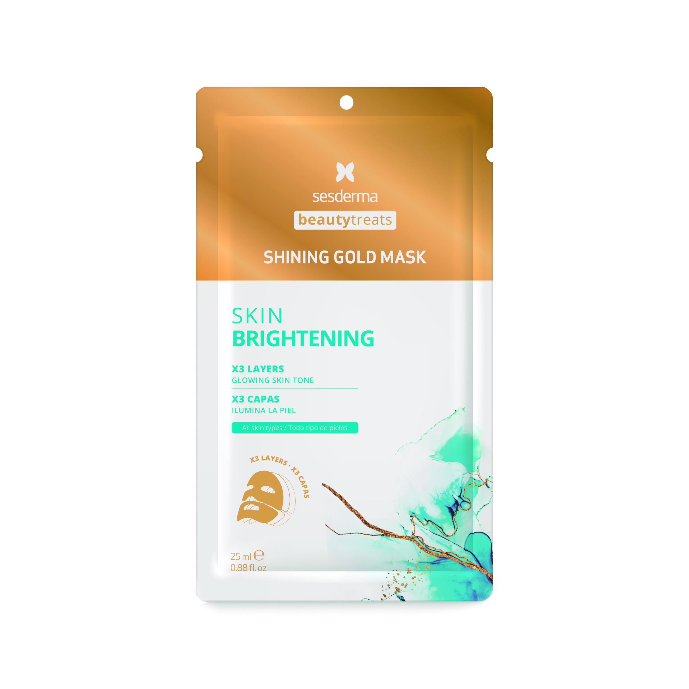 Sesderma Beauty Treats Shining Gold Mask  Mascarilla facial iluminadora y antioxidante 25 ml