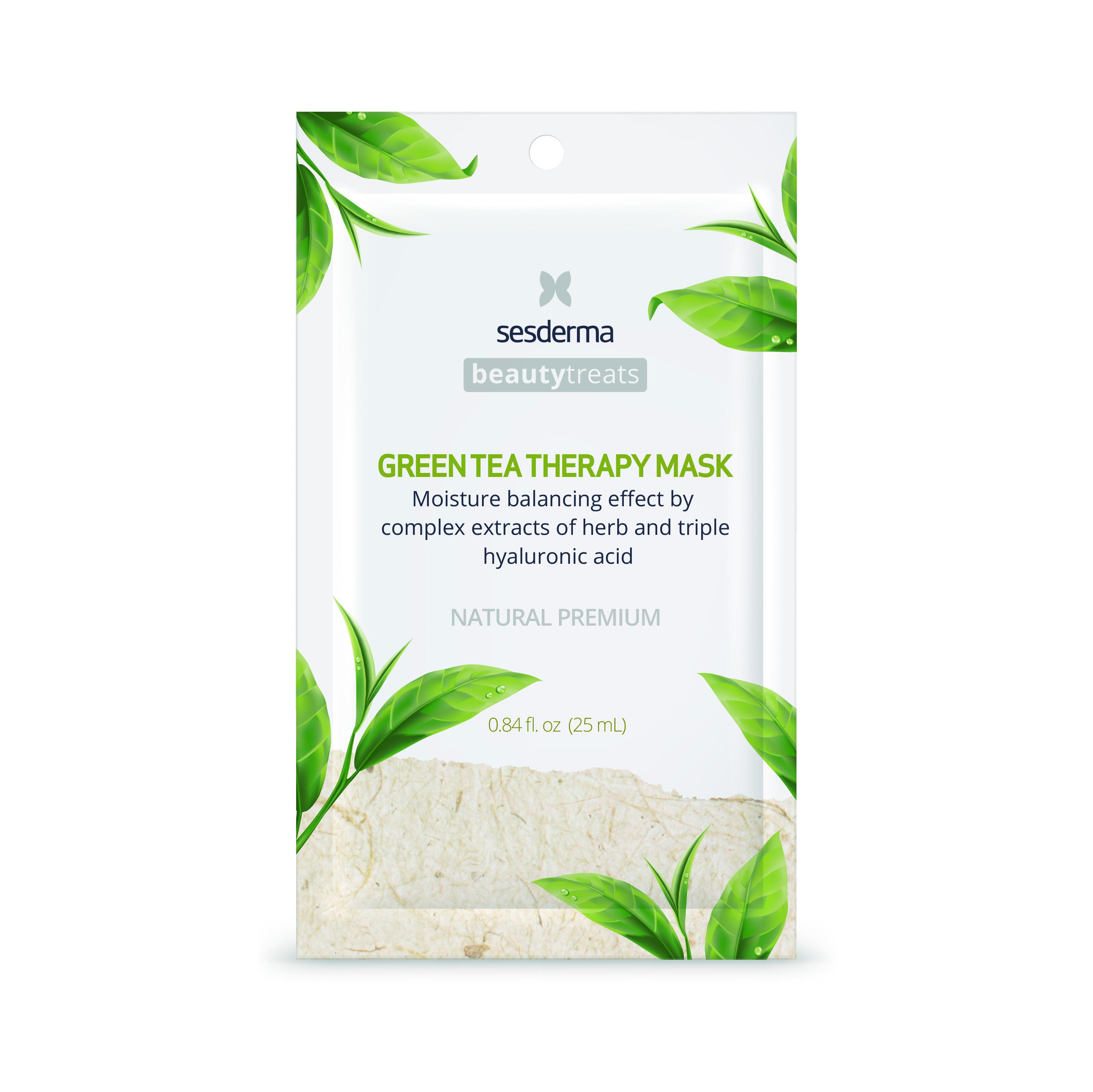 Sesderma Beauty Treats Green Tea Therapy Mask  Mascarilla facial calmante e hidratante 25 ml