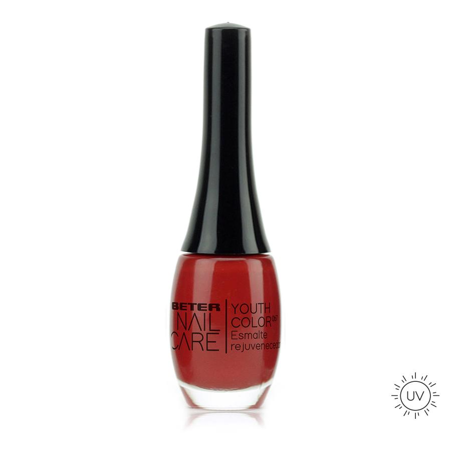 Beter Nail Care Youth Color Nº067 Pure Red  Esmalte Rejuvenecedor