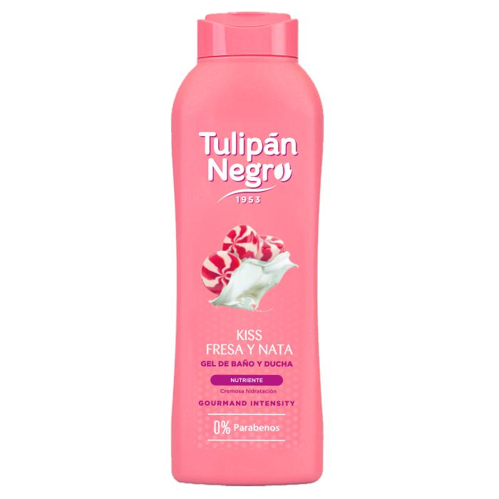 Tulipán Negro Gel Kiss Fresa y Nata  720 ml