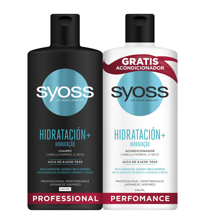 Syoss Champú Cabello normal + Acondicionador hidratante Duplo  500 ml