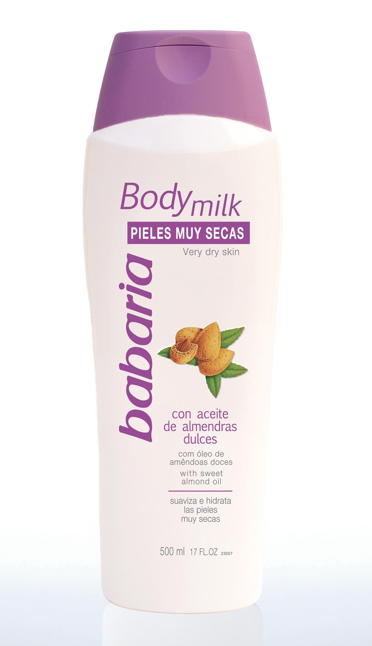 Babaria Body Milk Pieles Sensibles Almendras  500 ml