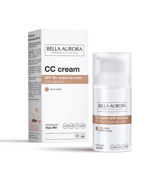 Bella Aurora CC Cream Anti-Manchas SPF50+ Tono Medio