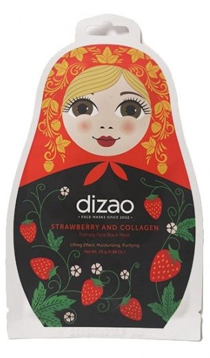 Dizao Strawbery and Collagen Firming Face Black Mask