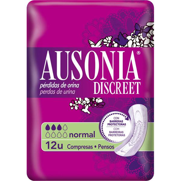 Ausonia Discreet Normal  12 Unidades