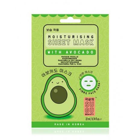 Sugu Avocado Sheet Mask  Mascarilla de Papel Hidratante - Aguacate
