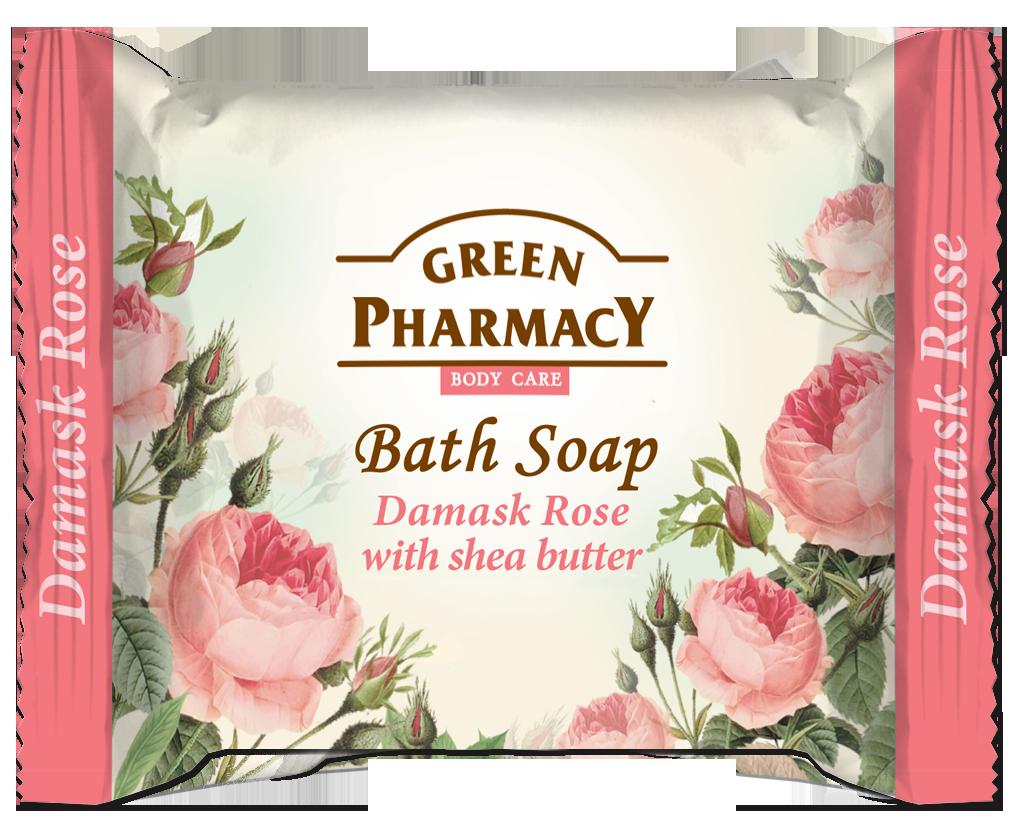 Green Pharmacy Jabón de Baño en Pastilla Rosa de Damasco y Manteca de Karité