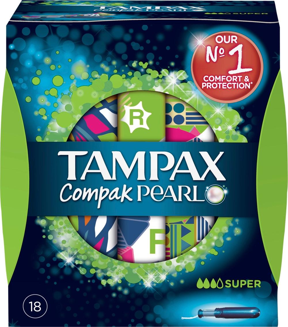 Tampax Compak Pearl Super  Tampones 18 unidades