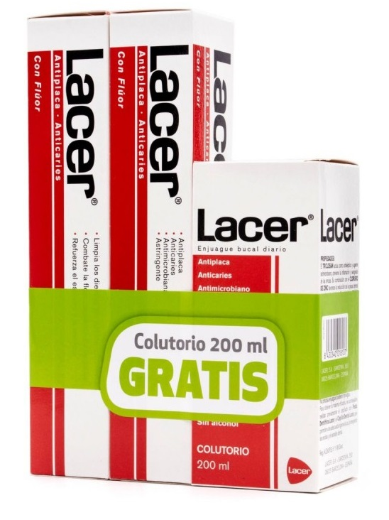 Lacer Dentífrico 125 ml + Enjuague 200 ml