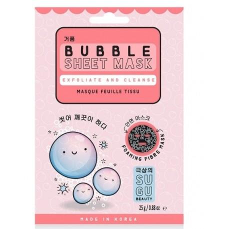 Sugu Bubble Sheet Mask  Mascarilla facial limpiadora y exfoliante