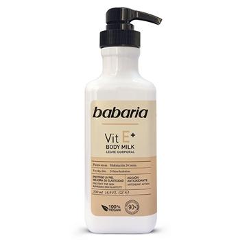 Babaria Body Milk Vitamina E  Dosificador 500 ml