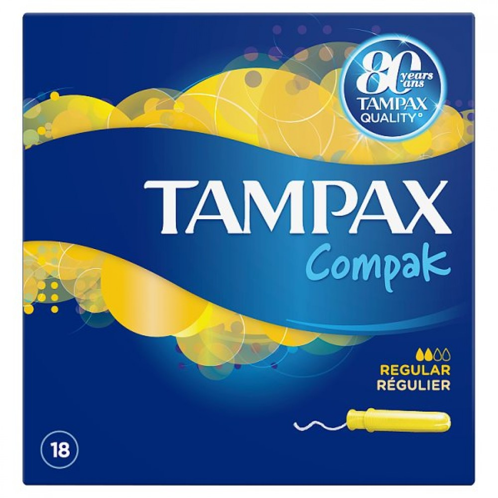 Tampax Compak Pearl Regular  Tampones 18 unidades