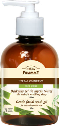 Green Pharmacy Gel Lavado Facial Aloe