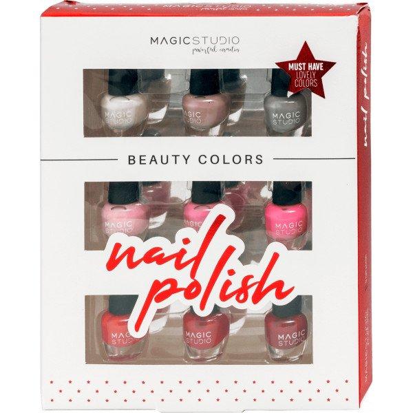 Magic Studio Beauty Colors Nail Polish  Set 9 de Lacas de Uñas