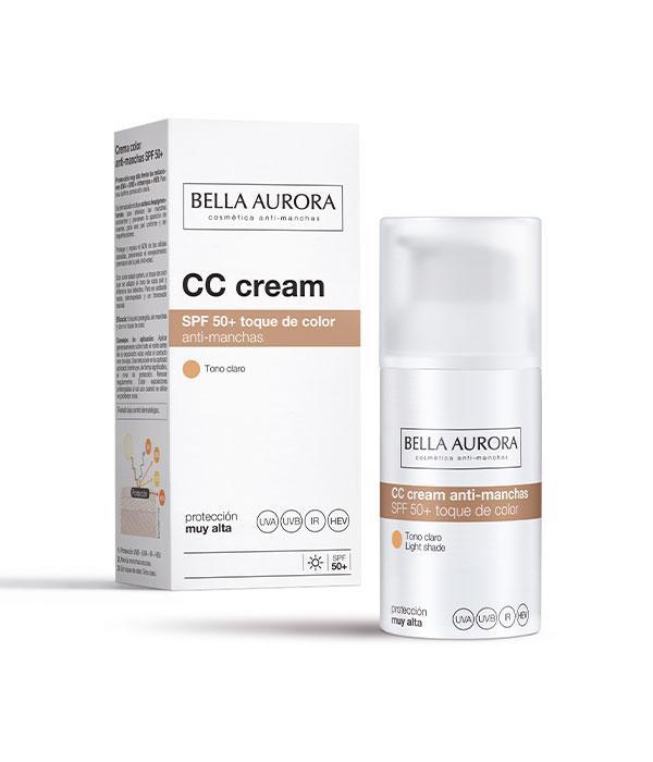 Bella Aurora CC Cream Anti-Manchas SPF50+ Tono Claro