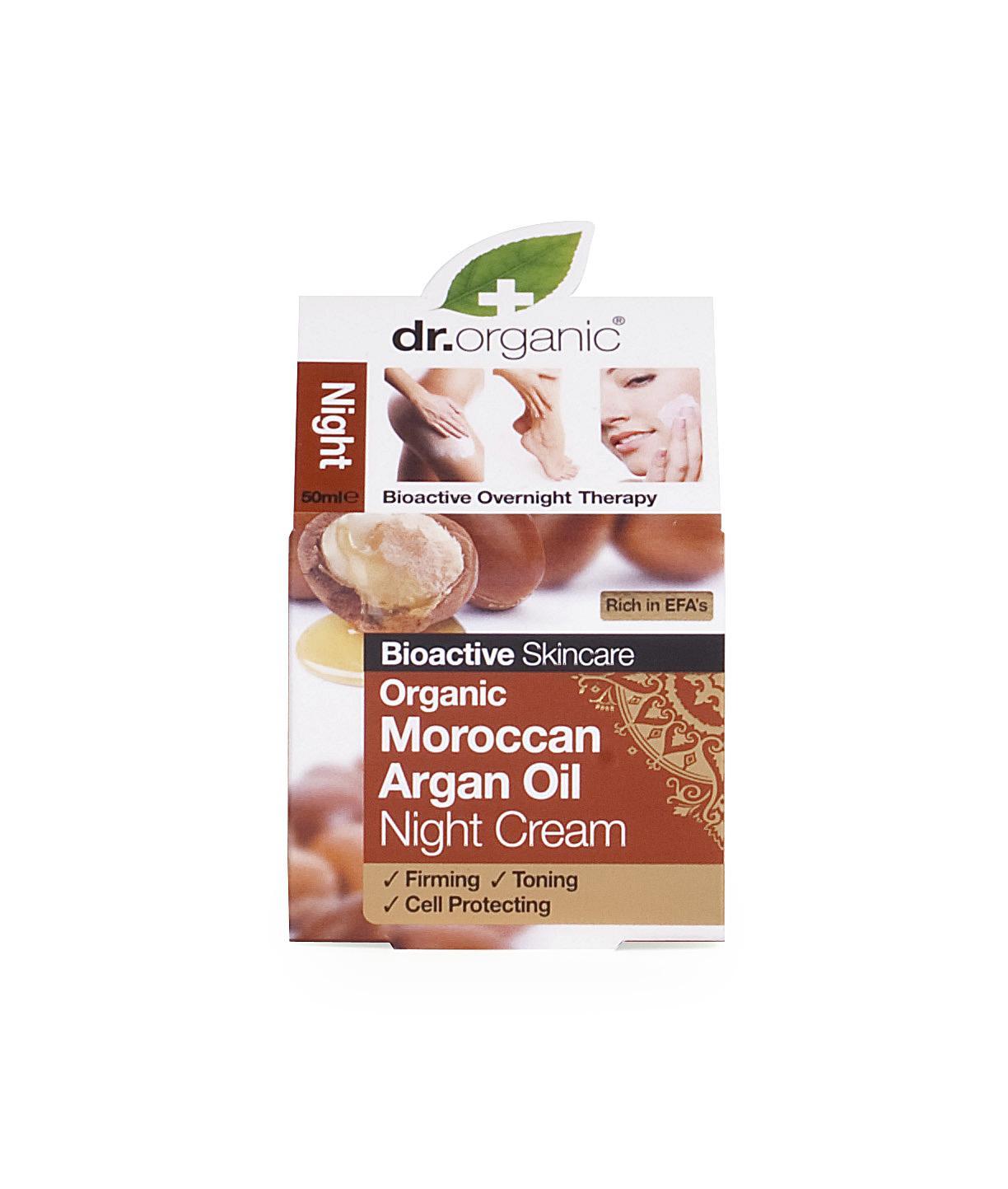 Dr. Organic Crema de Noche de Argán