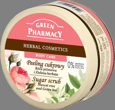 Green Pharmacy Peeling de Azucar Rosa Mosqueta y Té Verde