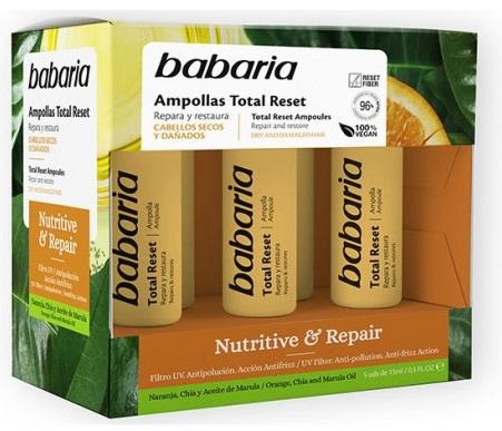 BABARIA AMPOLLAS TOTAL RESET NUTRITIVE & REPAIR  15ML X 5