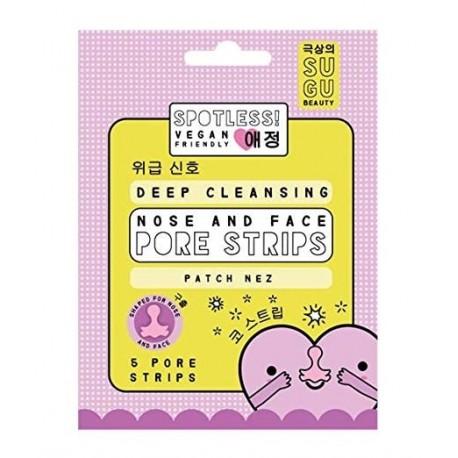 Sugu Spotless Deep Cleansing Pore Strip  Tiras limpiadoras para la nariz