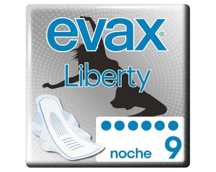 Evax Compresas Liberty Noche Alas  9 unidades