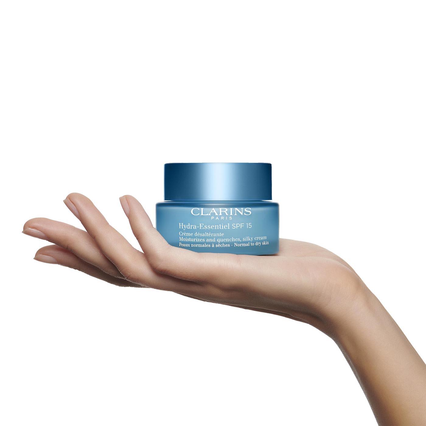 Clarins Hydra Essentiel Crema Hidratante SPF15  para pieles normales y secas