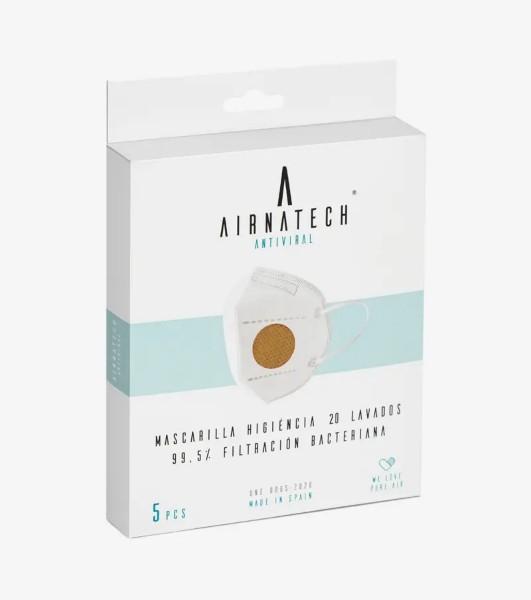 Airnatech Mascarilla Higiénica Lavable Beige (5 unidades)  3 capas