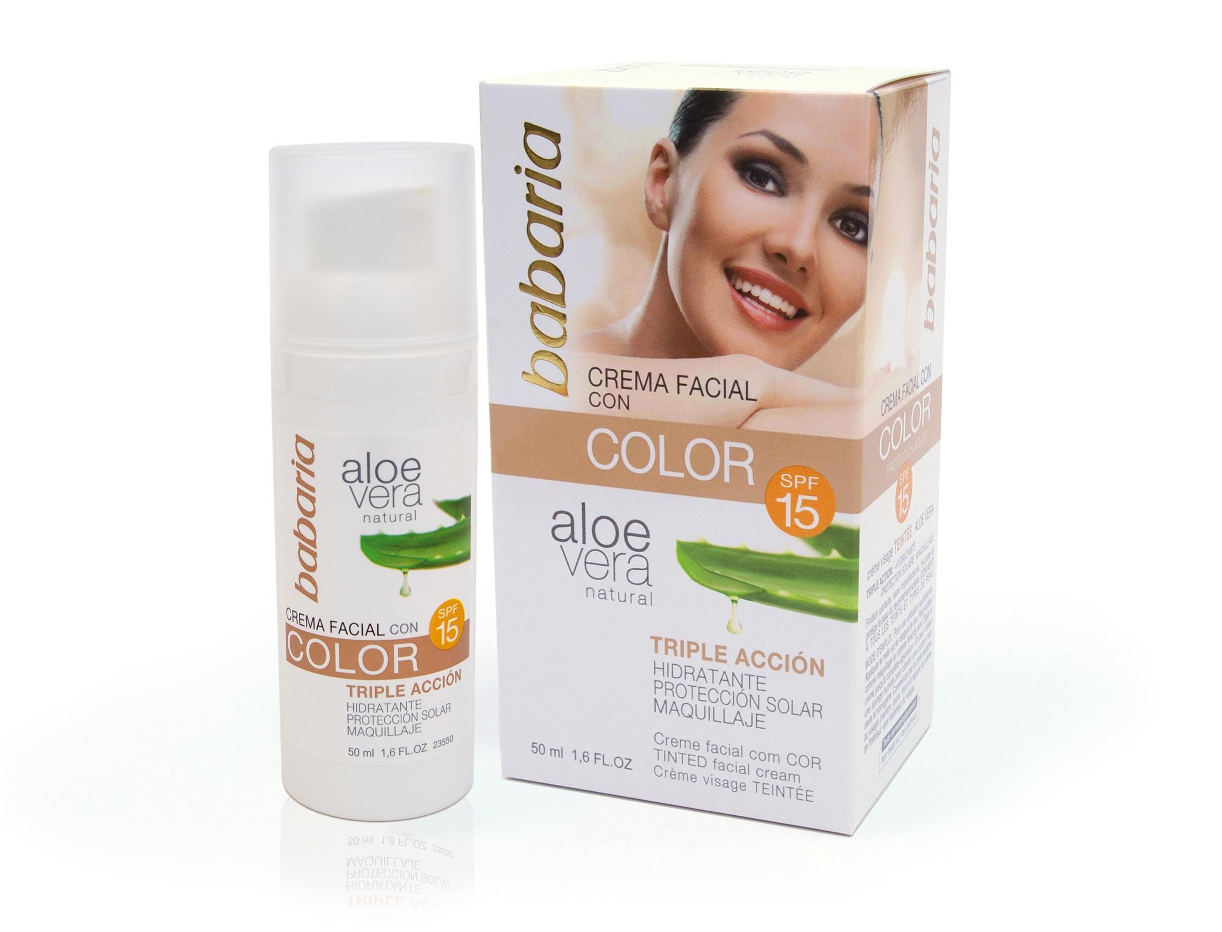 Babaria Crema Facial Aloe Color SPF15