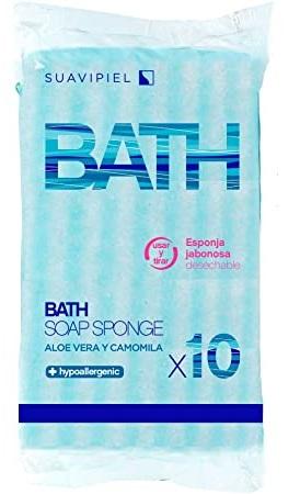 SUAVEPIEL BATH SOAP SPONGE X 10