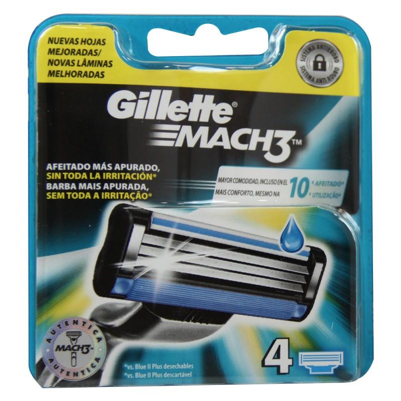 Gillette Maquinilla Mach 3  4 unidades