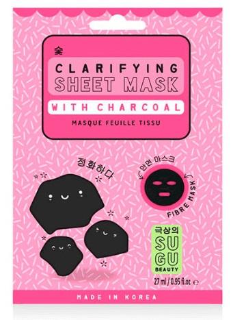 Sugu Charcoal Sheet Mask  Mascarilla purificante