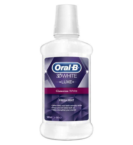 Oral-B 3D White Luxe Enjuague Bucal Brillo Seductor  500 ml