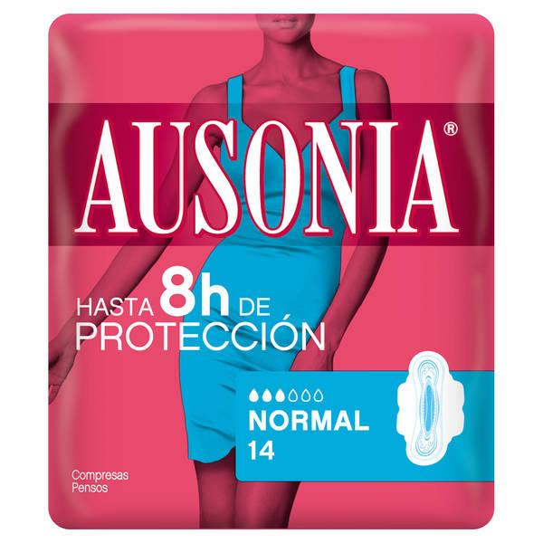 Ausonia Compresas Air Dry Normal Alas  14 Unidades
