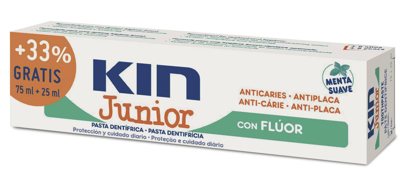 Kin Dentífrico Junior  75+25 ml