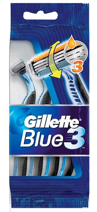 Gillette Maquinilla Blue III Basculante  4 unidades