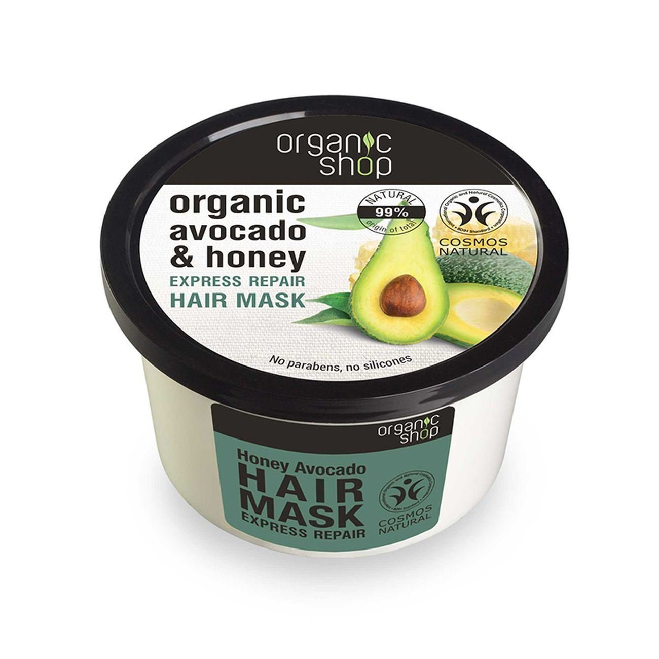 Organic Shop Mascarilla capilar Reparador express con miel y aguacate