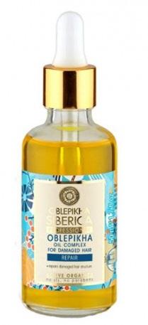 Natura Siberica Complejo de aceites para cabello dañado  con hidrolato de espino amarillo orgánico