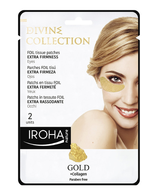 Iroha Parches Gold Ojos