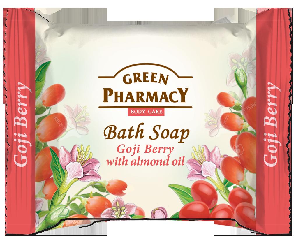 Green Pharmacy Jabón de Baño en Pastilla Goji y Aceite de Almendras