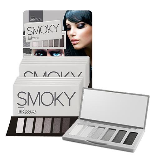 IDC Smoky Paleta de Sombras  6 Colores